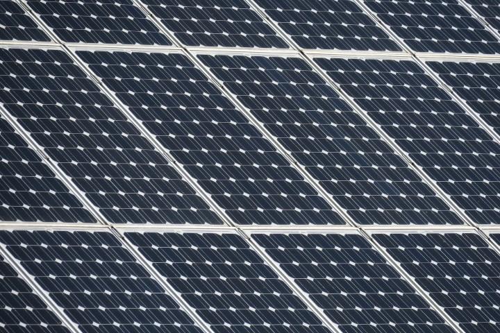 Detail zonnepanelen