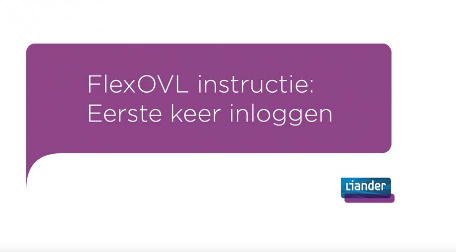 FlexOVL - eerste keer inloggen